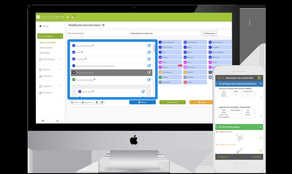 Avec Kizeo Forms créer le formulaire dont vous avez besoin !